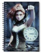 Mysterious Girl Spiral Notebook