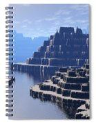Mysterious Terraced Mountains Spiral Notebook
