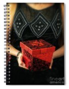 Mysterious Woman With Red Box Spiral Notebook