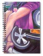 Mystery On Peter's Porsche Spiral Notebook