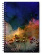 Take A Mystery Ride In The Multicolored Clouds Spiral Notebook