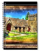 Mystic Church - Featured In Comfortable Art Group Spiral Notebook