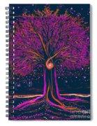 Mystic Spiral Tree 1 Pink By Jrr Spiral Notebook