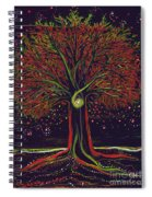 Mystic Spiral Tree Red By Jrr Spiral Notebook