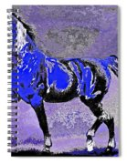 Mysterious Stallion Abstract Spiral Notebook