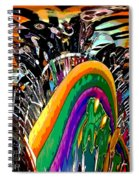 Mystic Stripers Tiger Emblem Abstract Spiral Notebook