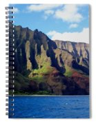 Na Pali Coast On Kauai Spiral Notebook
