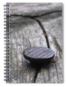Nail And Old Wood Spiral Notebook