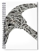 Nails Forming Shape Of Hammer Spiral Notebook