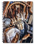 Naive American Mask Spiral Notebook
