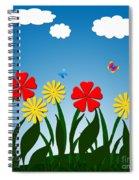 Naive Nature Scene Spiral Notebook