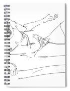 Naked-man-art-16 Spiral Notebook