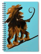 Naked One In Blue Spiral Notebook