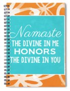 Namaste Watercolor Flowers Spiral Notebook