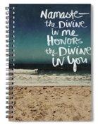 Namaste Waves  Spiral Notebook