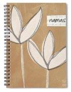 Namaste White Flowers Spiral Notebook
