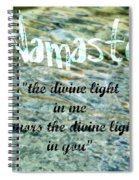 Namaste With Crystal Waters Spiral Notebook