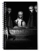 Nameless Faces Spiral Notebook
