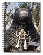 Nandi Statue Spiral Notebook