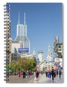 Nanjing Road In Shanghai China Spiral Notebook