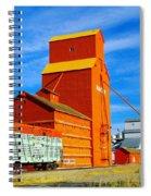 Nanton Grain Elevators  Spiral Notebook