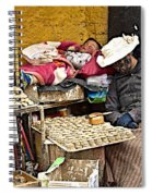 Nap Time For Child And Street Shopkeeper In Lhasa-tibet   Spiral Notebook