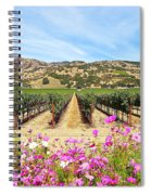 Napa Valley Vineyard With Cosmos Spiral Notebook