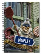 Naples Pizzeria Signage Downtown Disneyland Spiral Notebook