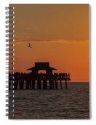 Naples Sunset Spiral Notebook
