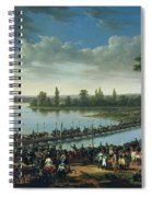 Napoleon Before The Battle Of Wagram, 6th July 1809 Spiral Notebook