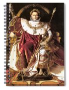 Napoleon I On His Imperial Throne Spiral Notebook