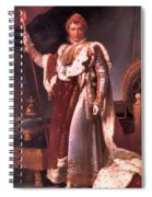 Napoleon In His Coronation Robes  Spiral Notebook