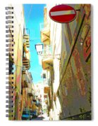 Narrow Street Cefalu Italy Digital Art Spiral Notebook