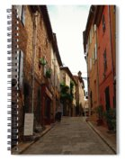 Narrow Street In Provence Spiral Notebook