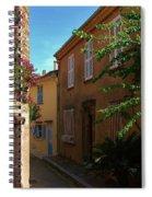 Narrow Street In The Village Spiral Notebook