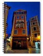 Narrow Streets And Buildings - Rovinj Croatia Spiral Notebook