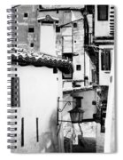 Narrow Streets Of Albarracin  Black And White Spiral Notebook