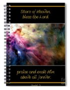 Nasa Ll Ori And The Orion Nebula Stars Of Heaven Bless The Lord Spiral Notebook