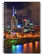 Nashville Is A Colorful Town Spiral Notebook