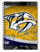 Nashville Predators Christmas Spiral Notebook