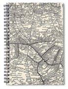 Nashville Railway Map Vintage Spiral Notebook