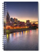Nashville Skyline Panorama Spiral Notebook