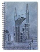 Nashville Skyline Sketch Spiral Notebook