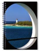 Nassau Lighthouse Porthole View Spiral Notebook