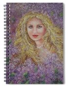 Natalie In Lilacs Spiral Notebook