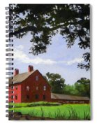 Nathan Hale Homestead Coventry Connecticut Spiral Notebook