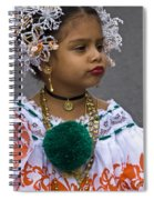 National Costume Of Panama Spiral Notebook