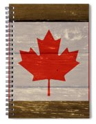 Canada National Flag On Wood Spiral Notebook