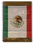 Mexico National Flag On Wood Spiral Notebook