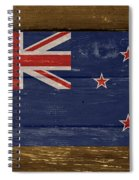 New Zealand National Flag On Wood Spiral Notebook